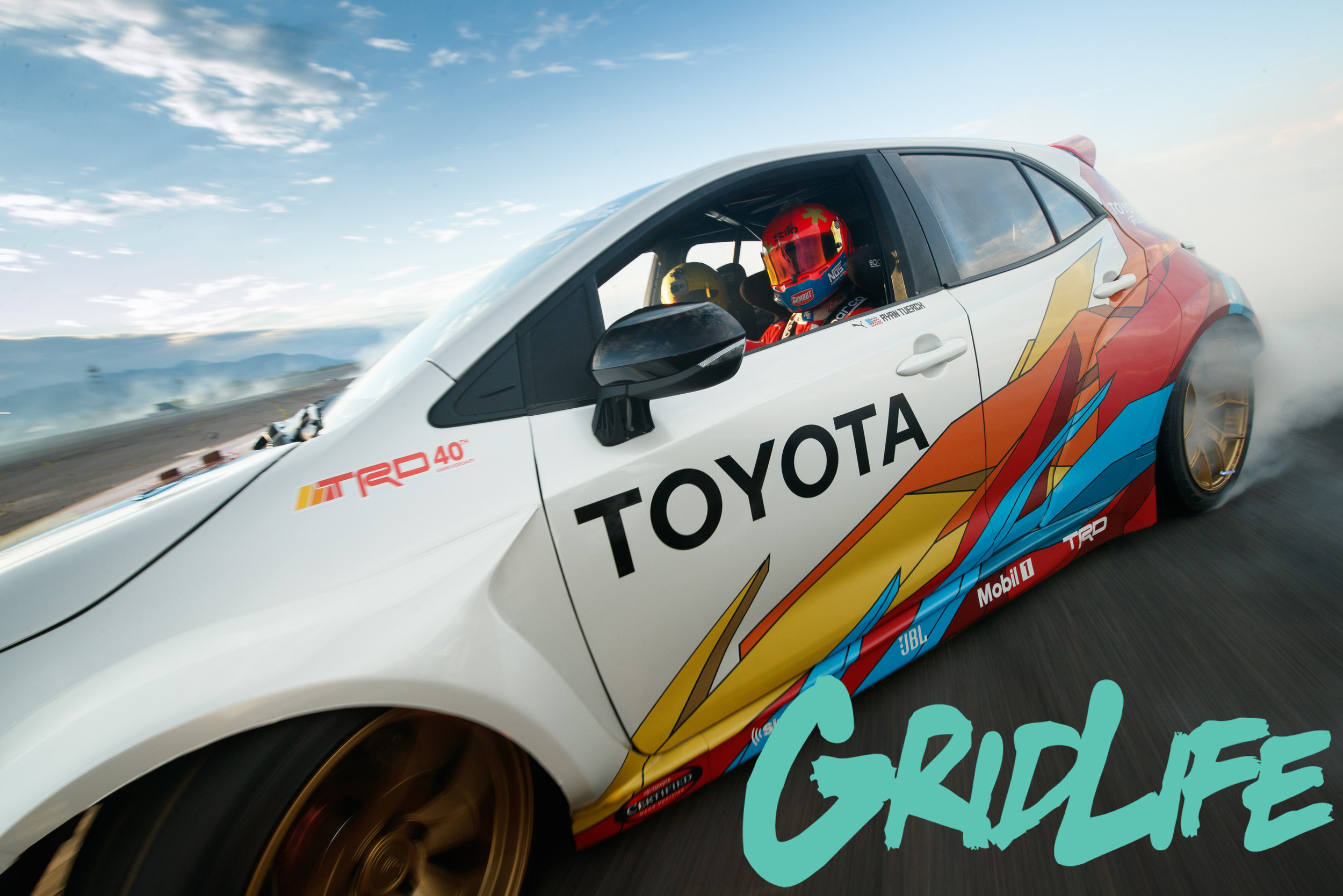 Ryan Tuerck will be sending it all weekend with the Papadakis Racing Toyota Corolla Hatchback
