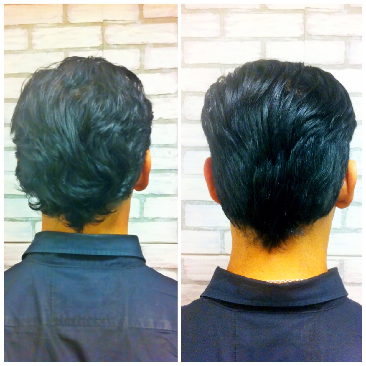 Before & After; shorter on the sides