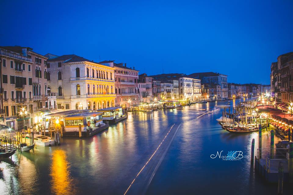 This is a picture I took without a tripod from the Rialto Bridge in Venice!