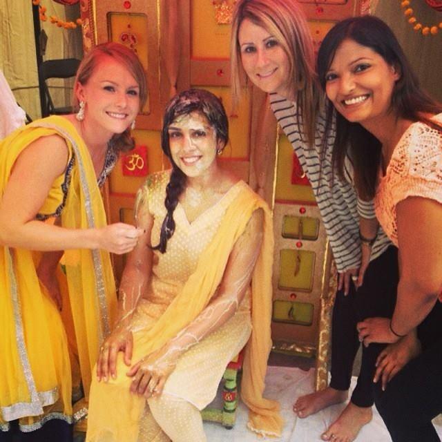 My friend Reena at her Haldi ceremony
