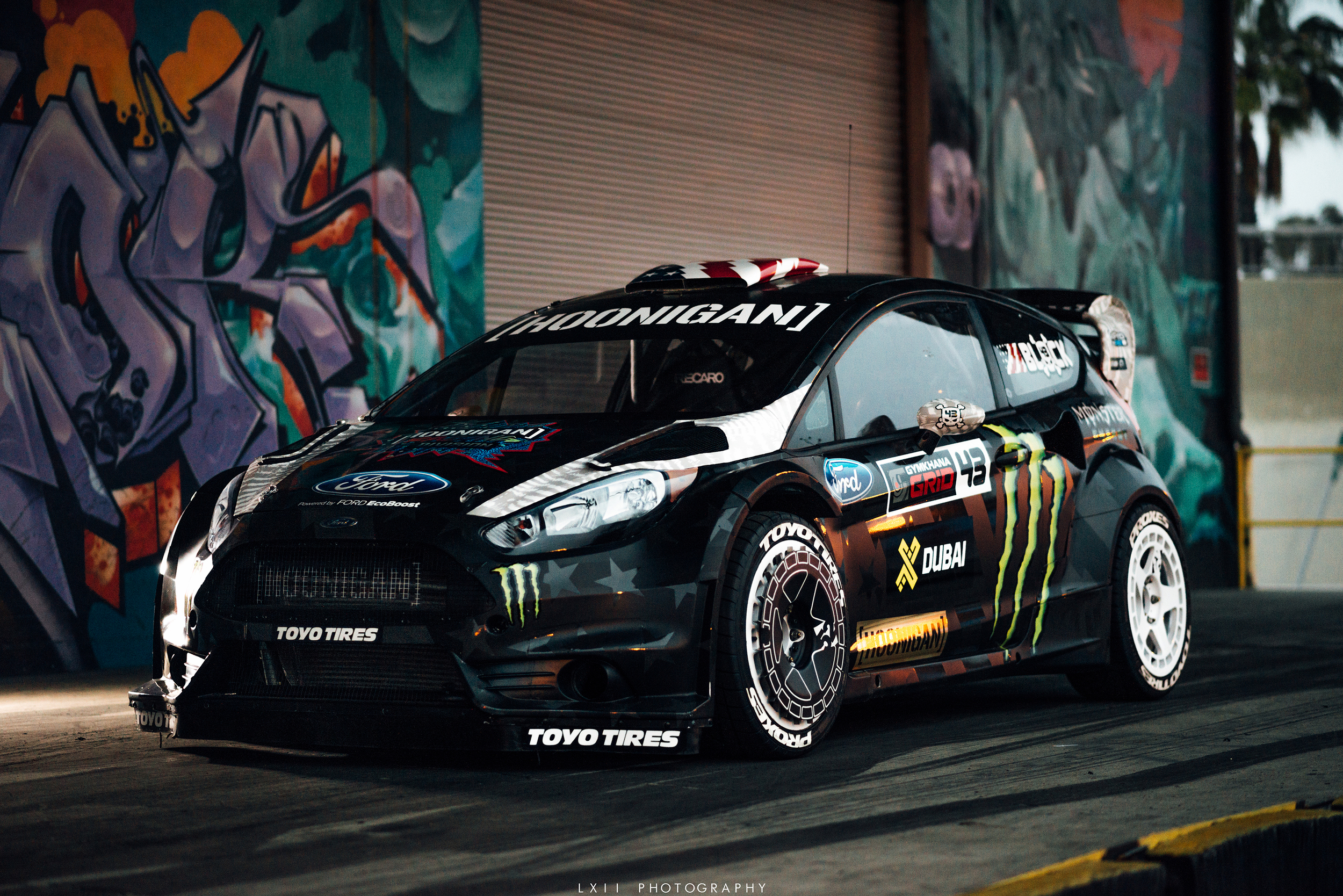Light Painting Ken Block's Ford Fiesta with OMGDrift!