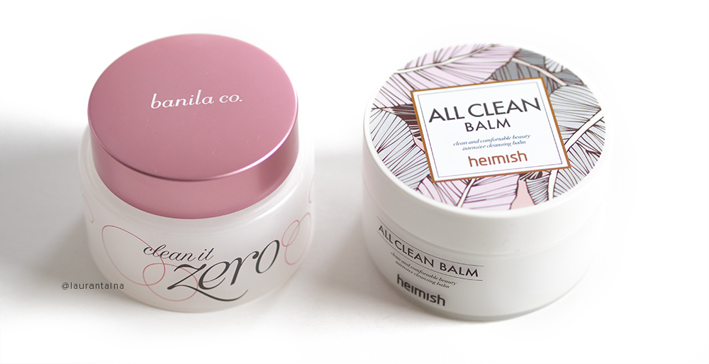 Banila co. and Heimish cleansing balms