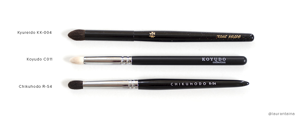 Kyureido KK-004 eyeshadow brush comparison