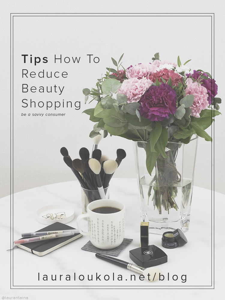 Tips How To Reduce Beauty Shopping | No Buy series