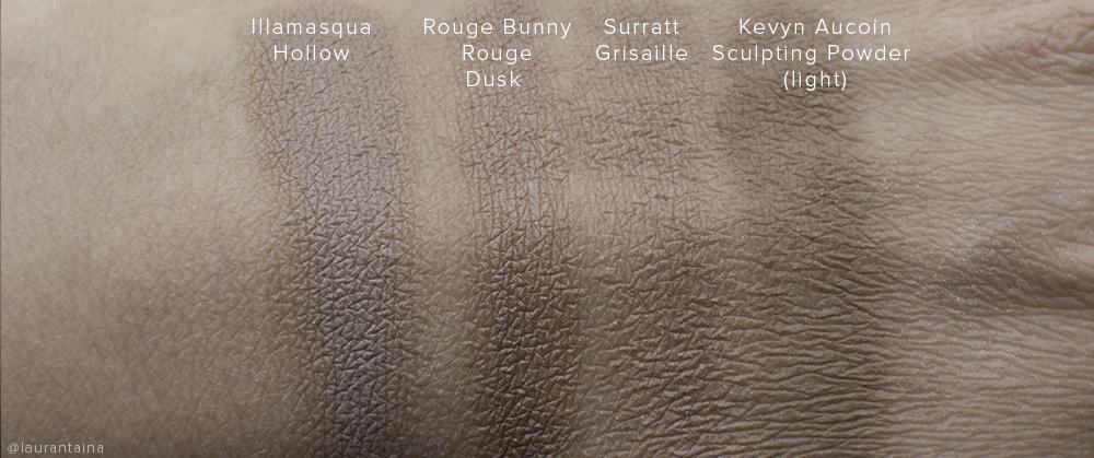 Illamasqua Cream pigment in Hollow swatch