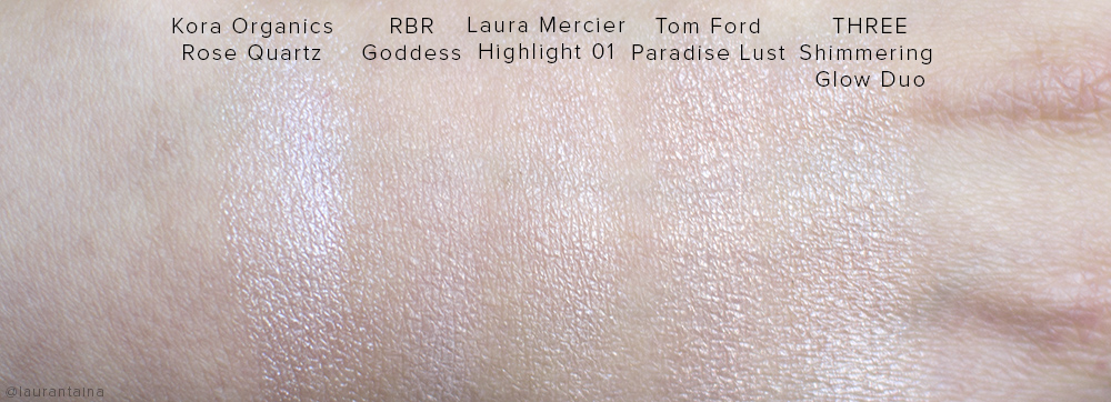 Kora Organics Rose Quartz Luminizer Review and Swatches