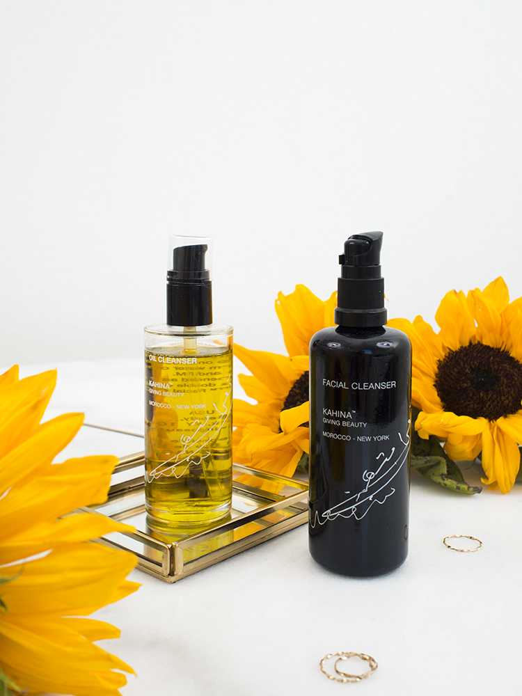 Kahina Giving Beauty Facial Cleanser and Cleansing Oil Review | Laura Loukola Beauty Blog