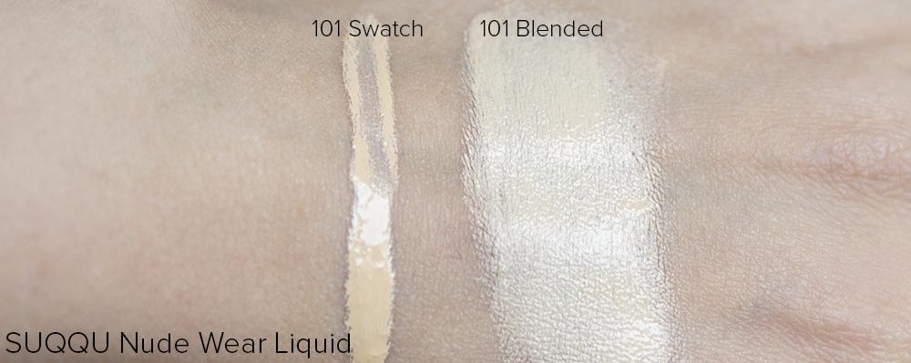 SUQQU Nude Wear Liquid Swatches | Laura Loukola beauty Blog
