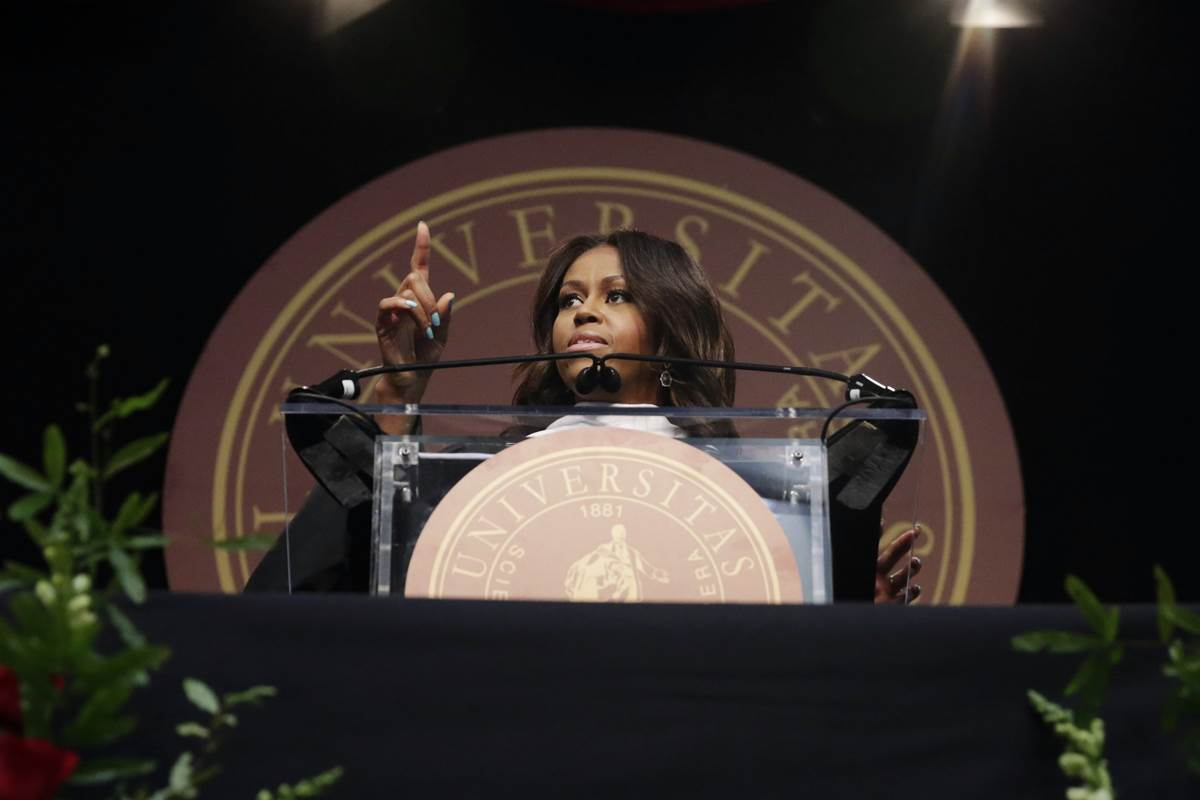 MICHELLE OBAMA DURING ADDRESS TO TUSKEGEE GRADUATES