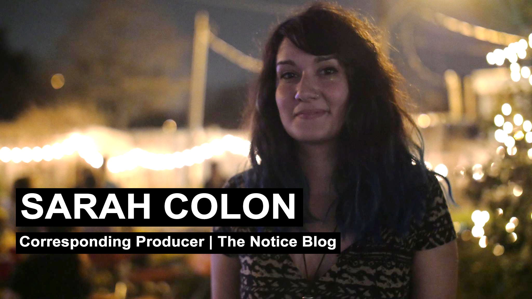 Sarah Colón is an independent videogr  ap  her who has been traveling the country covering stories ranging from Occupy, ALEC, police brutality, immigration and even going into psychedelics studies. Community, agorism and solutions are major factors in her passion to help the world.