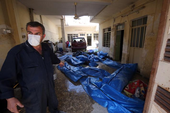 Emergency Care area in following Mosul air strike.
