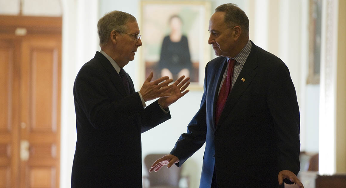 From Left to Right: Sen Mitch McConnell, Sen Chuck Schumer