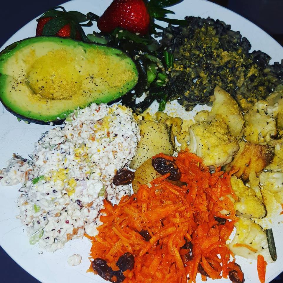 yummy food from the Shiva Rea Humaliwo Retreat in Malibu!