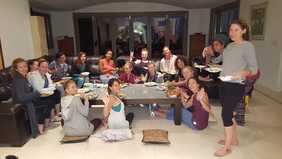 happy campers from the Shiva Rea Humaliwo Retreat in Malibu!