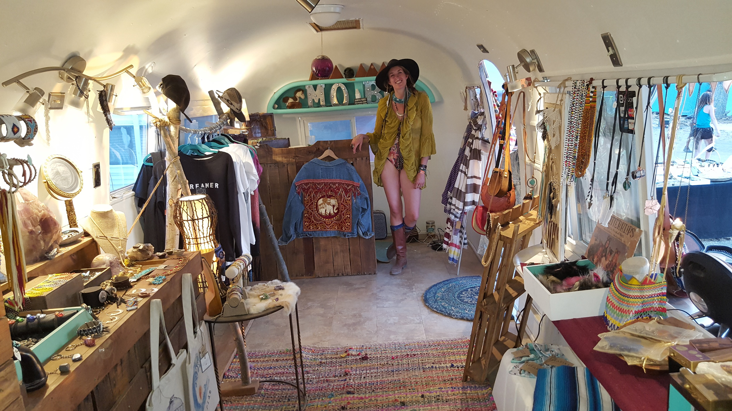 one of my favorite clothing vendors @ LIB/ her store is an Airstream!