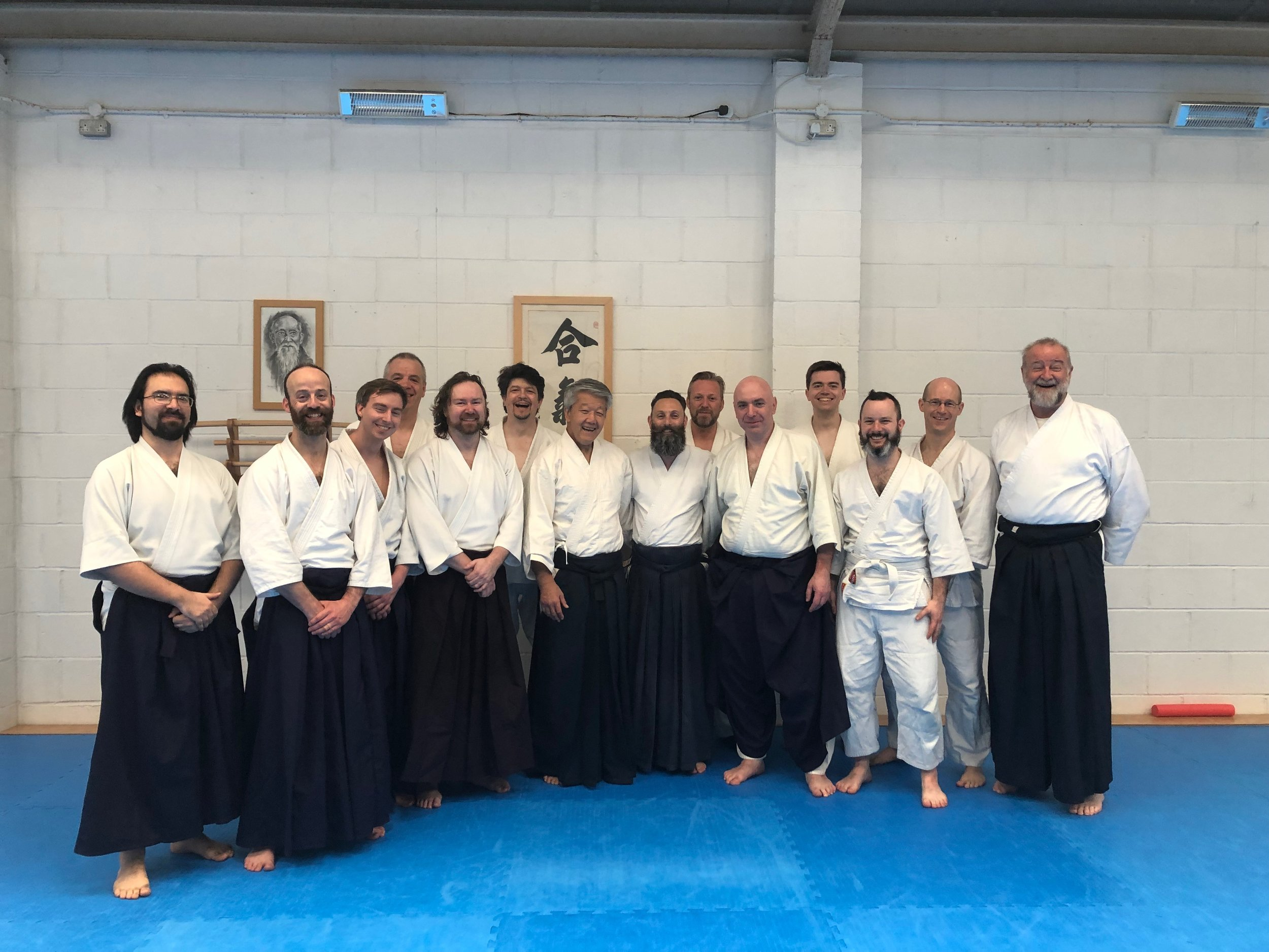 Photo with Sensei at his annual UK seminar weekend in Coventry - 28/04/19