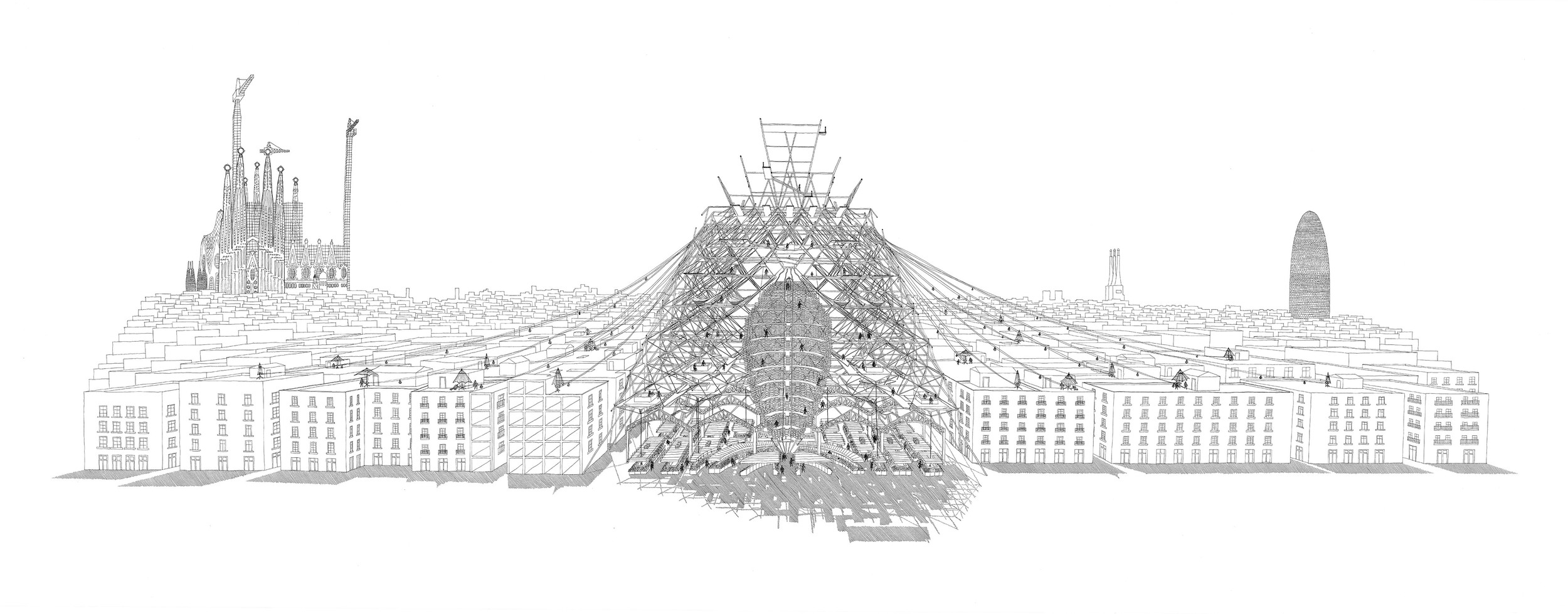 Christian Brink, 'The Food Temple - A Sustainable Eating and Dining Infrastructure that Establishes a Symbiosis between Insects and the City'.