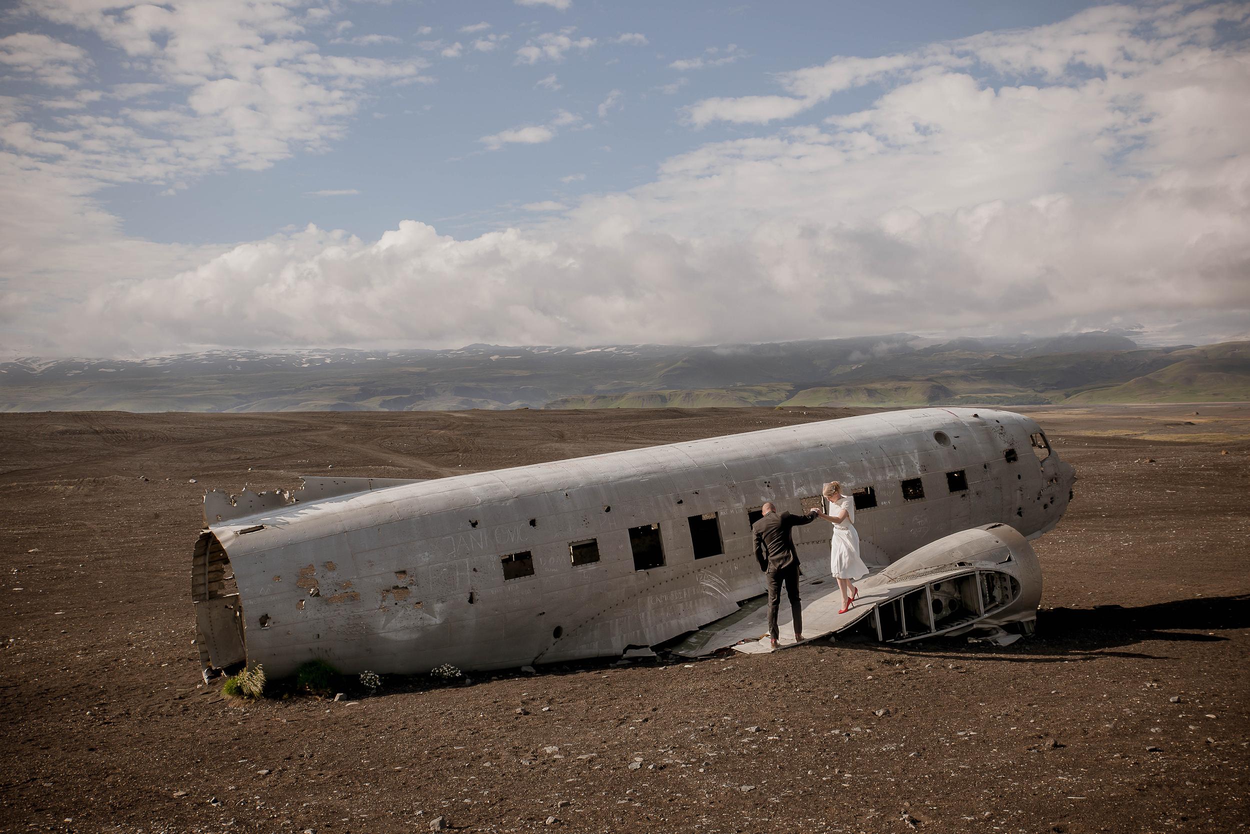 Iceland Crashed Airplane Wedding Photos by Miss Ann-2.jpg