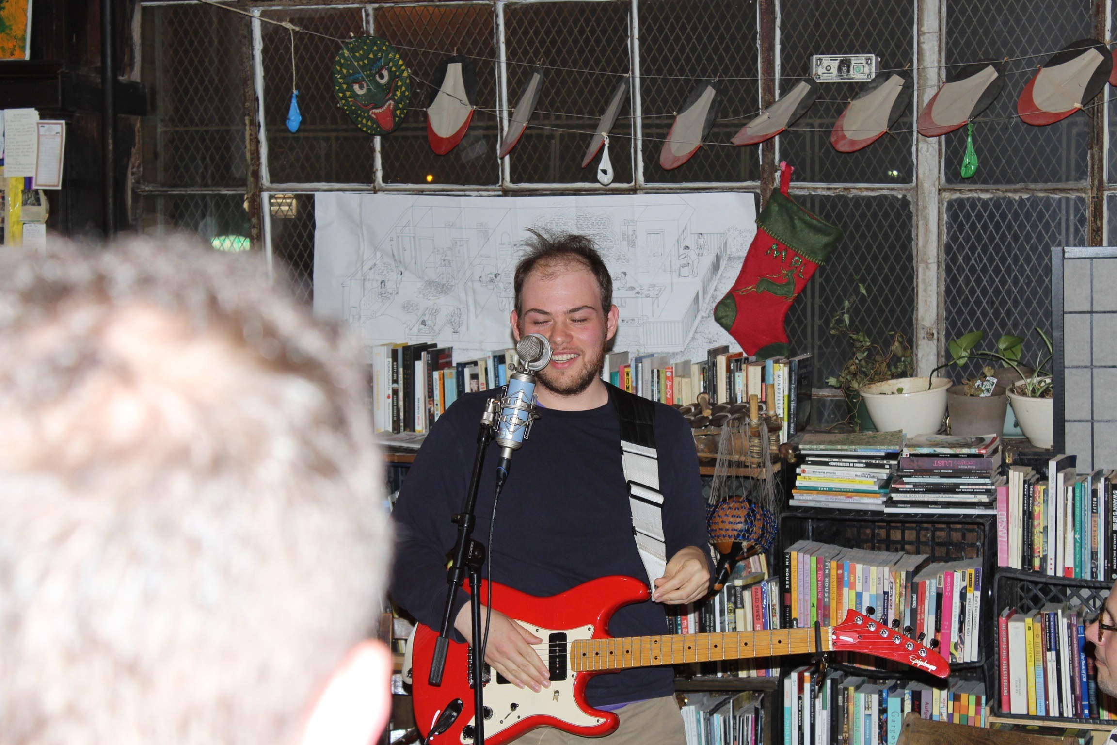 Ocean Music performing as a one-piece at The Mellow Pages Library in Brooklyn, NY