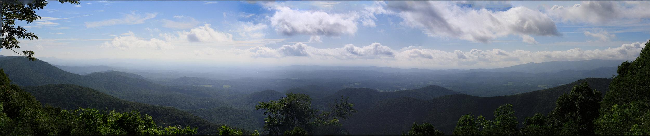 Blue Ridge Mountains, Roanoke, VA, August 2016