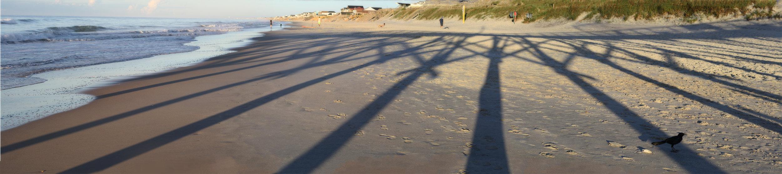 Surf City Pier Shadow, Topsail Island, NC, August 2016