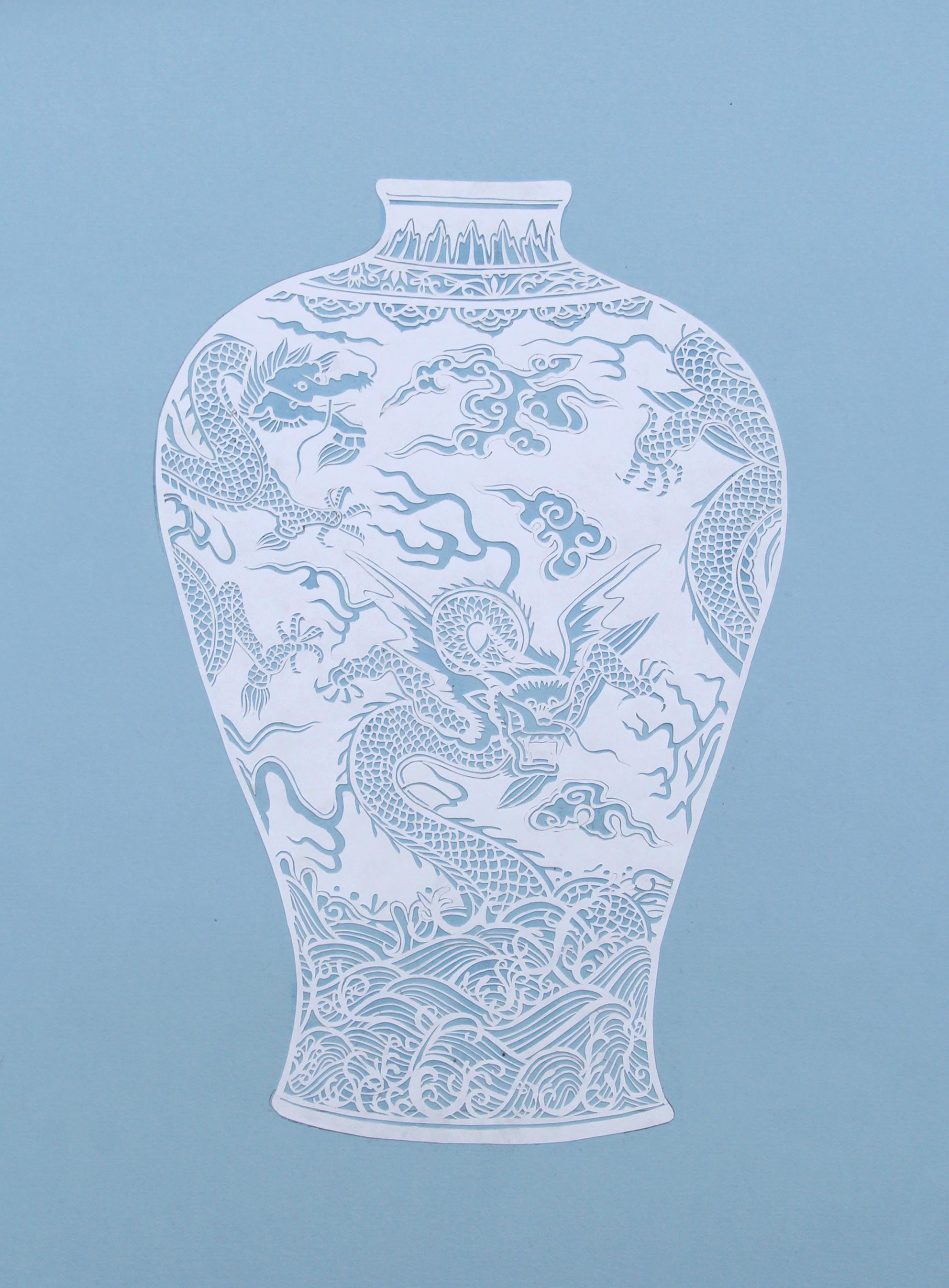 An example of paper cutting at Chau Art