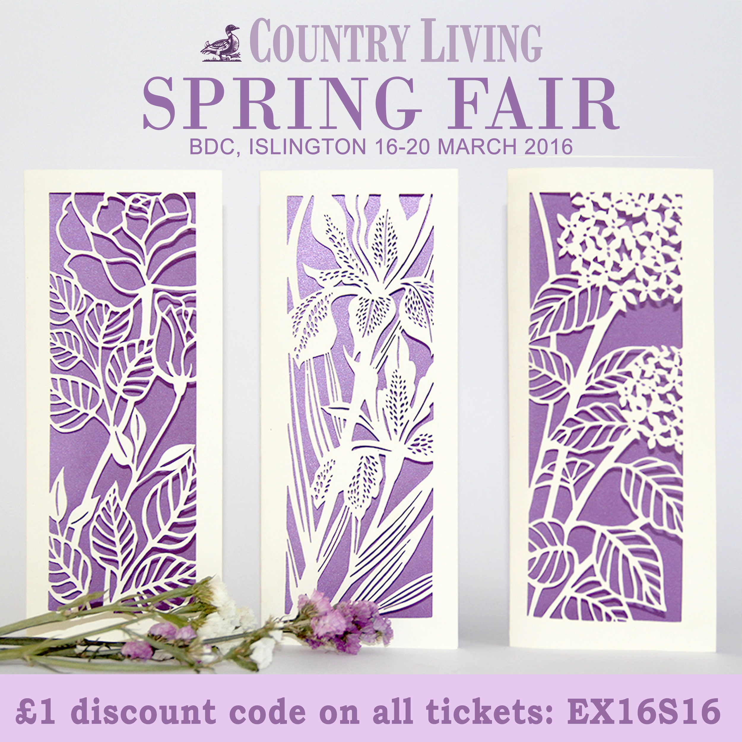 Chau Art, luxury greeting cards, Country living Spring fair