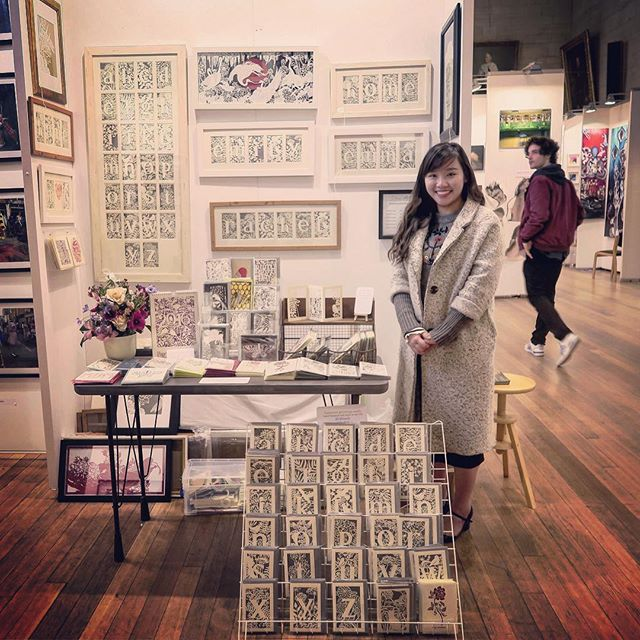 Lasercut Greeting cards, Oxford art event