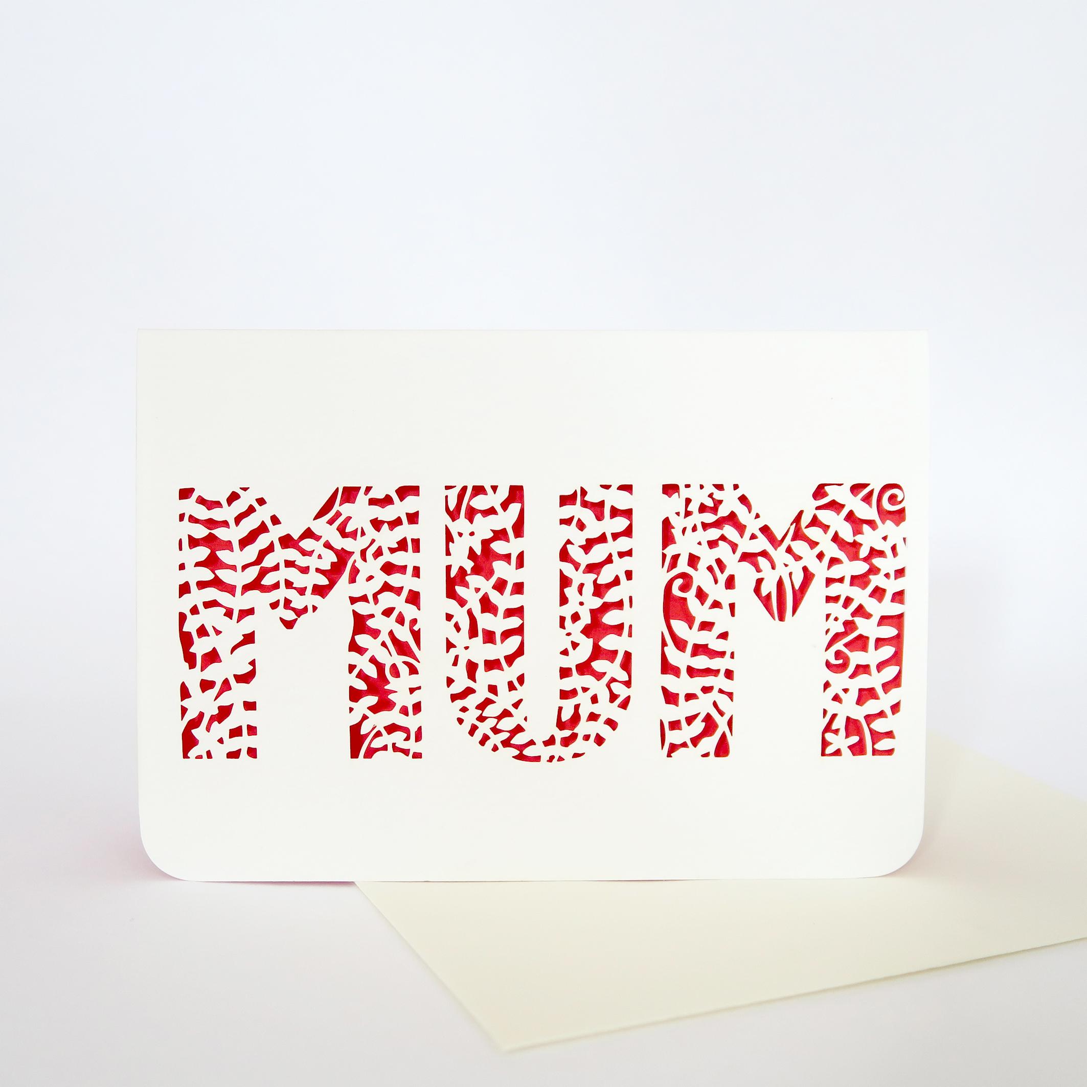 Mothers Day Lasercut Card
