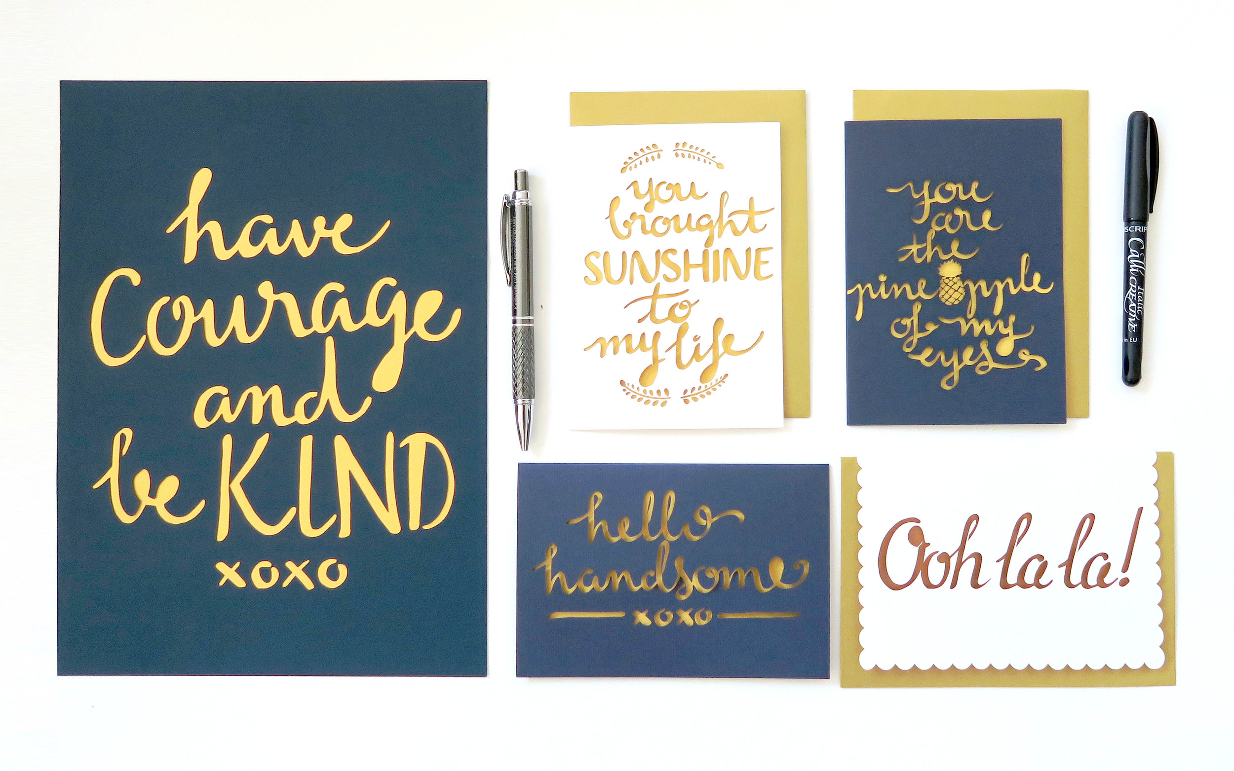 chau art papercut stationery