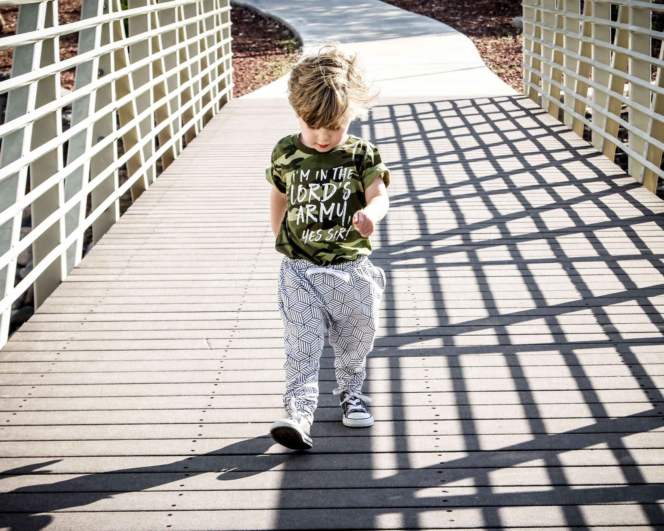 Baby boy summer style in Lot801 monochrome joggers