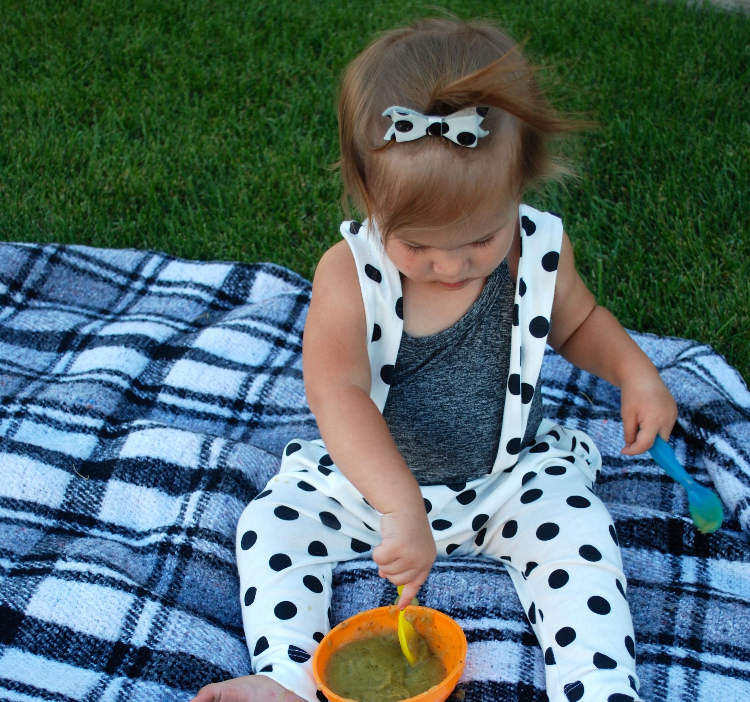 polka dot suspenders for little girls