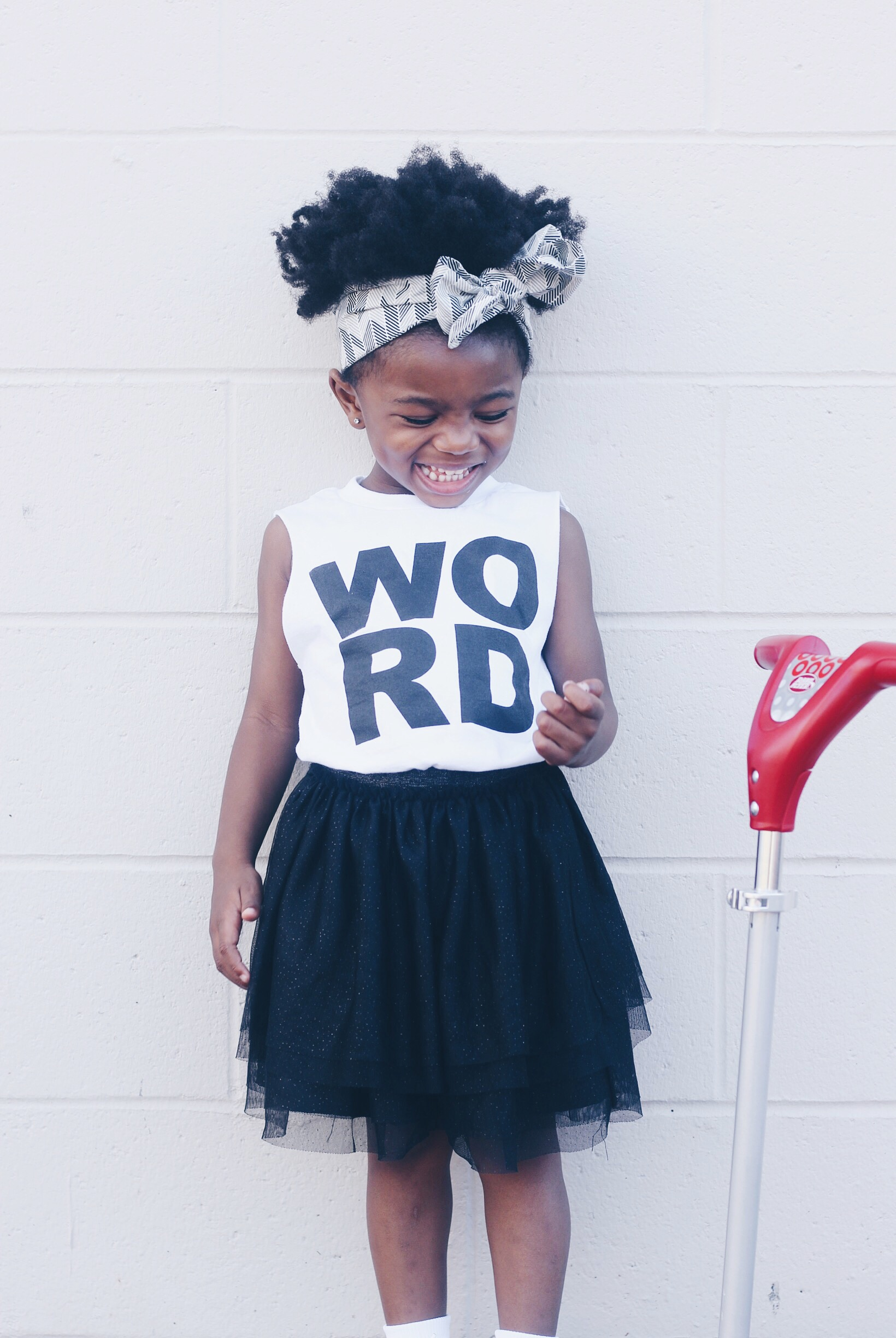 lot801 graphic WORD muscle tee baby girl kids wear