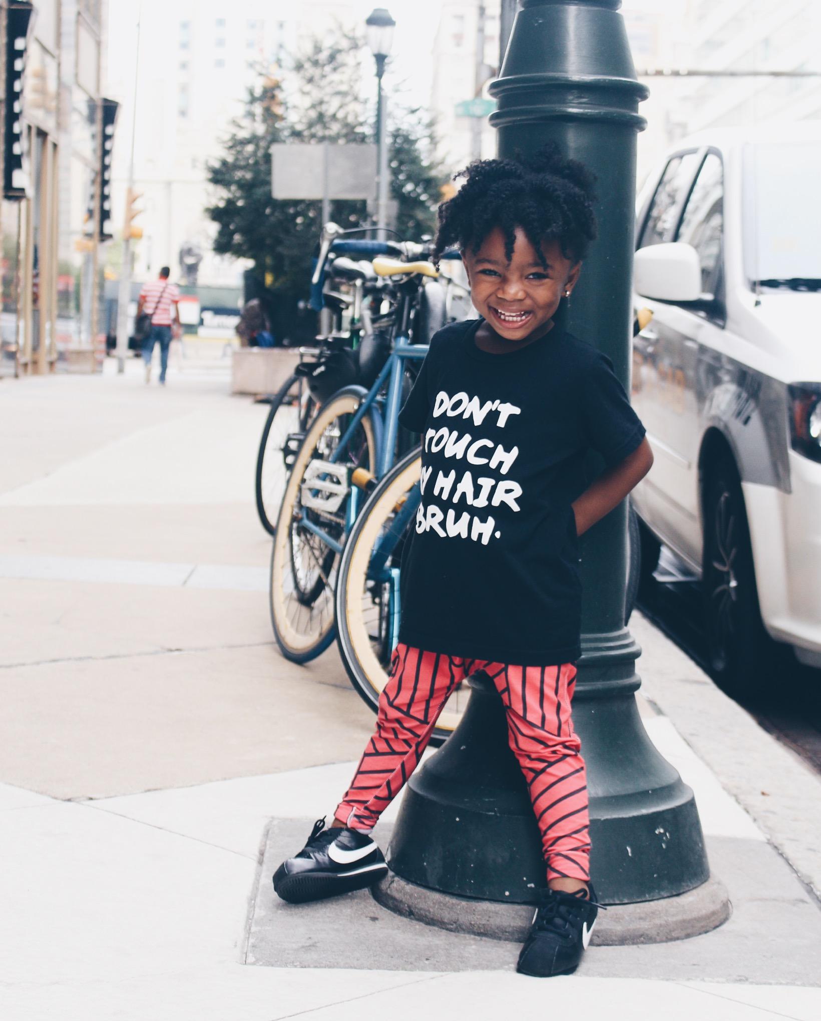 baby girl street style - blood orange joggers