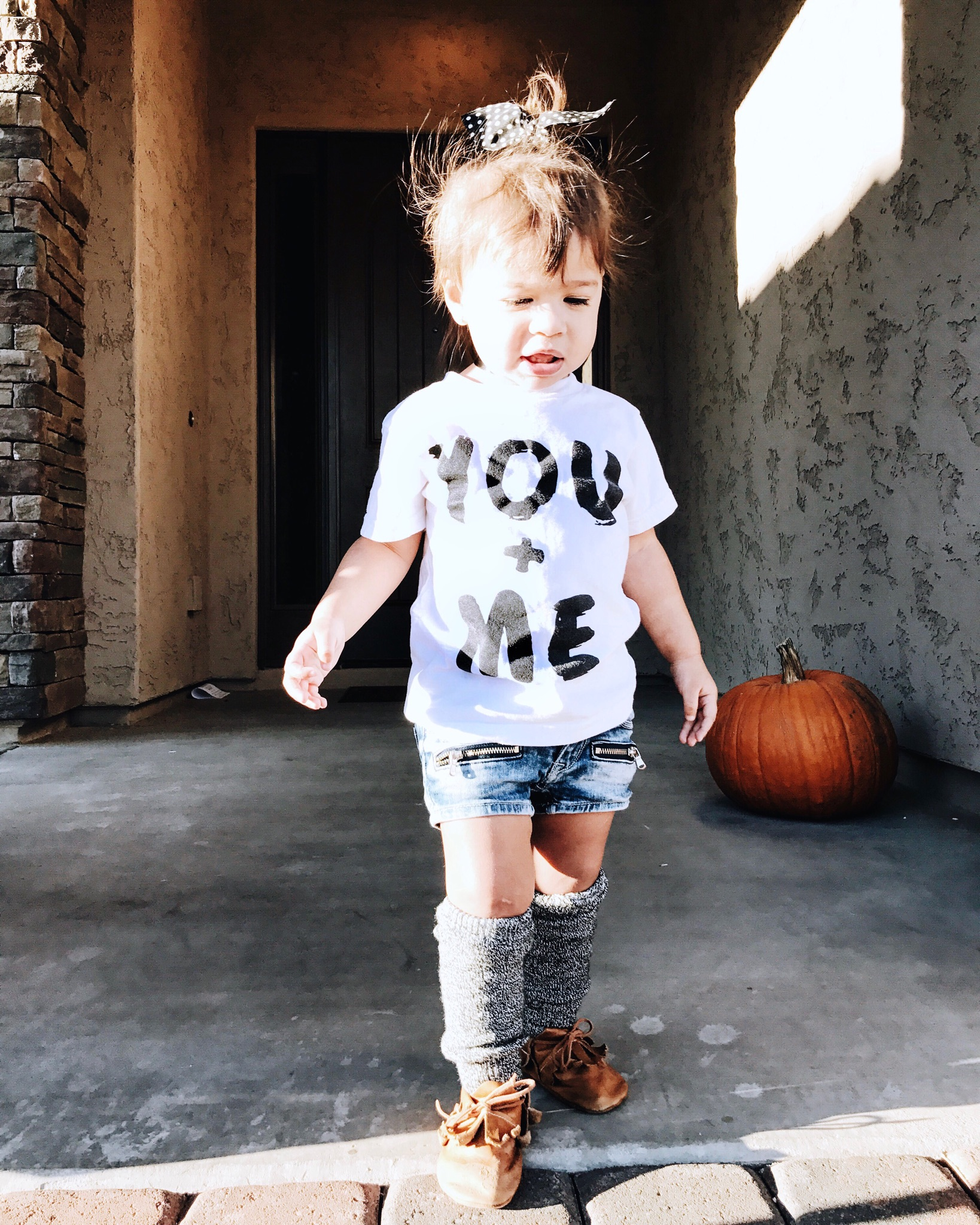 Lot801 baby and toddler you + me monochrome graphic tee