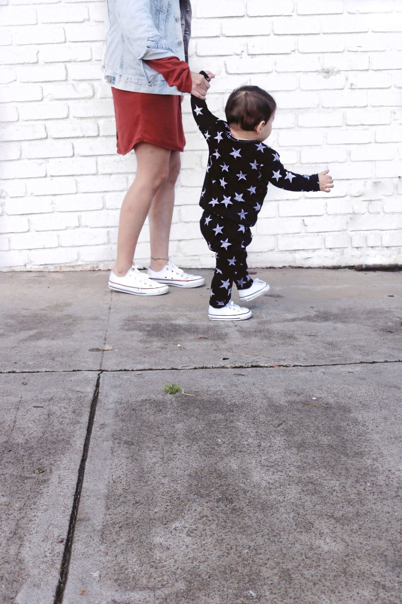 Mommy and me style - baby boy joggers and pullover. Street style