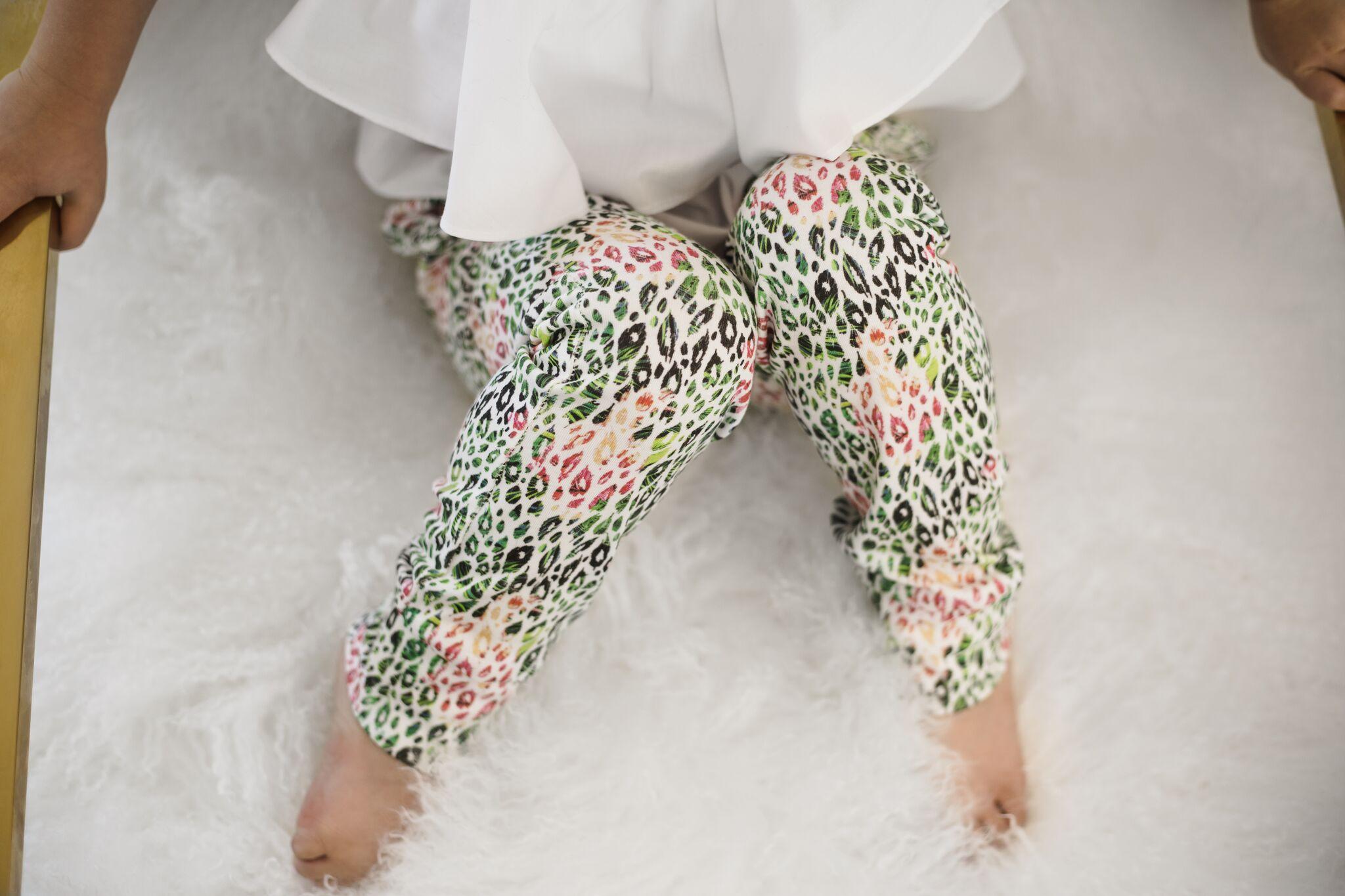 Lot801 baby and toddler tropical cheetah pants
