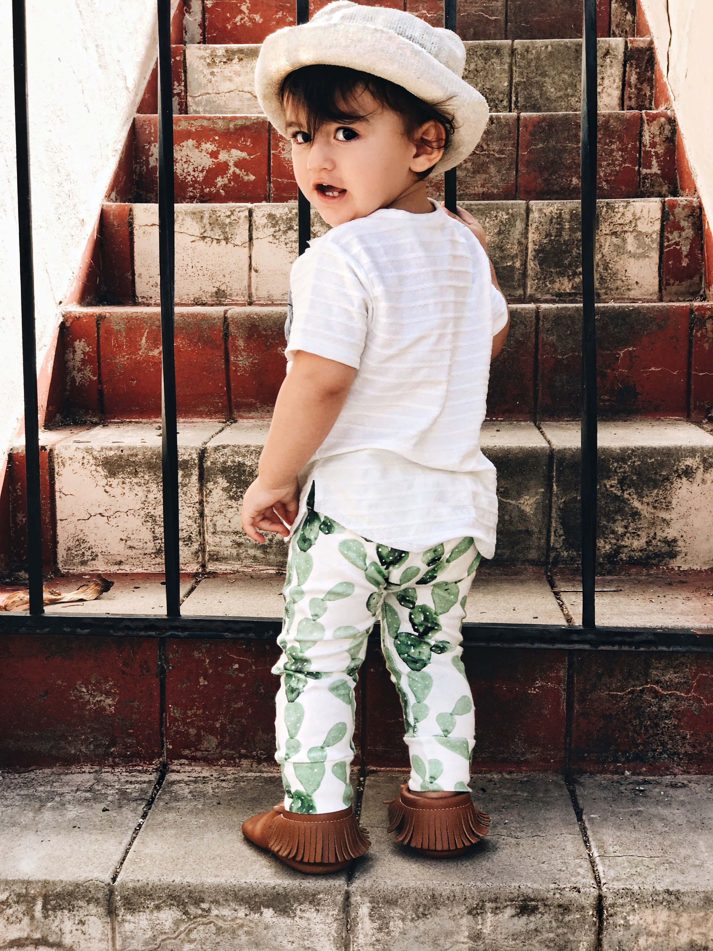 Lot801 baby and toddler summer cactus joggers