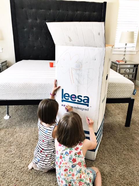 new mom getting sleep with Leesa mattress