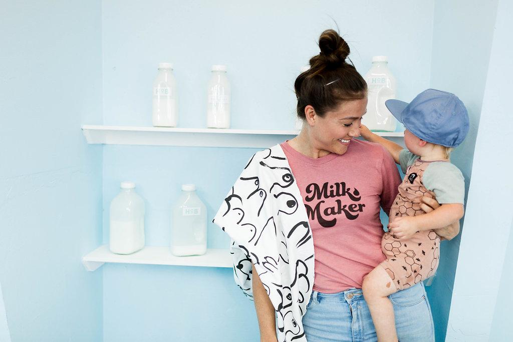 The Little Milk Maker Milk Maker tee for breastfeeding moms hall of breaskfast.jpg