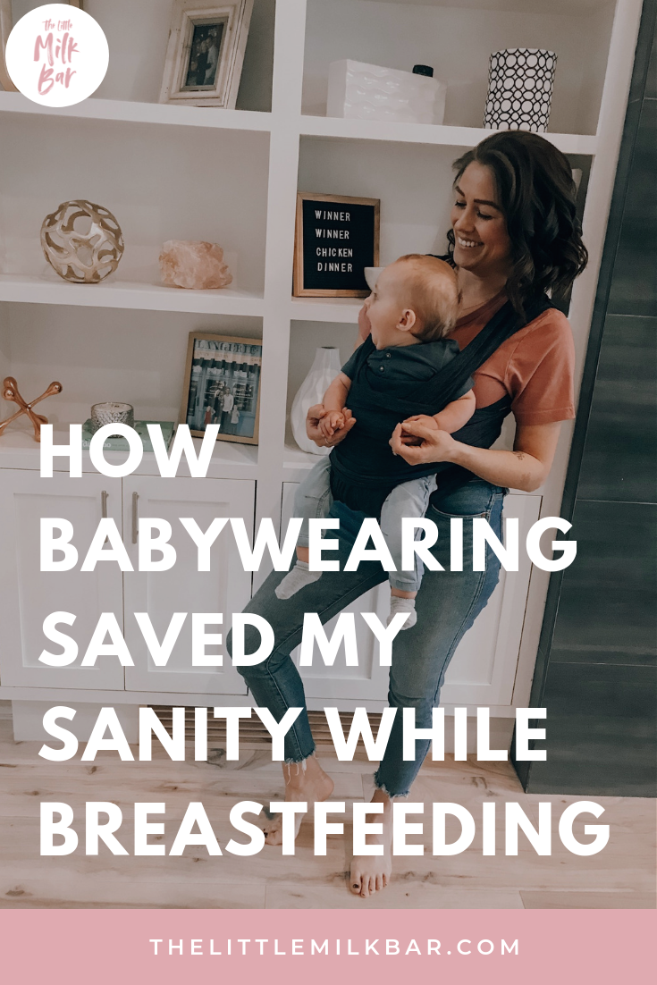 how breastfeeding saved my sanity while breastfeeding. Top tips for new moms. Boppy Baby Carrier.png