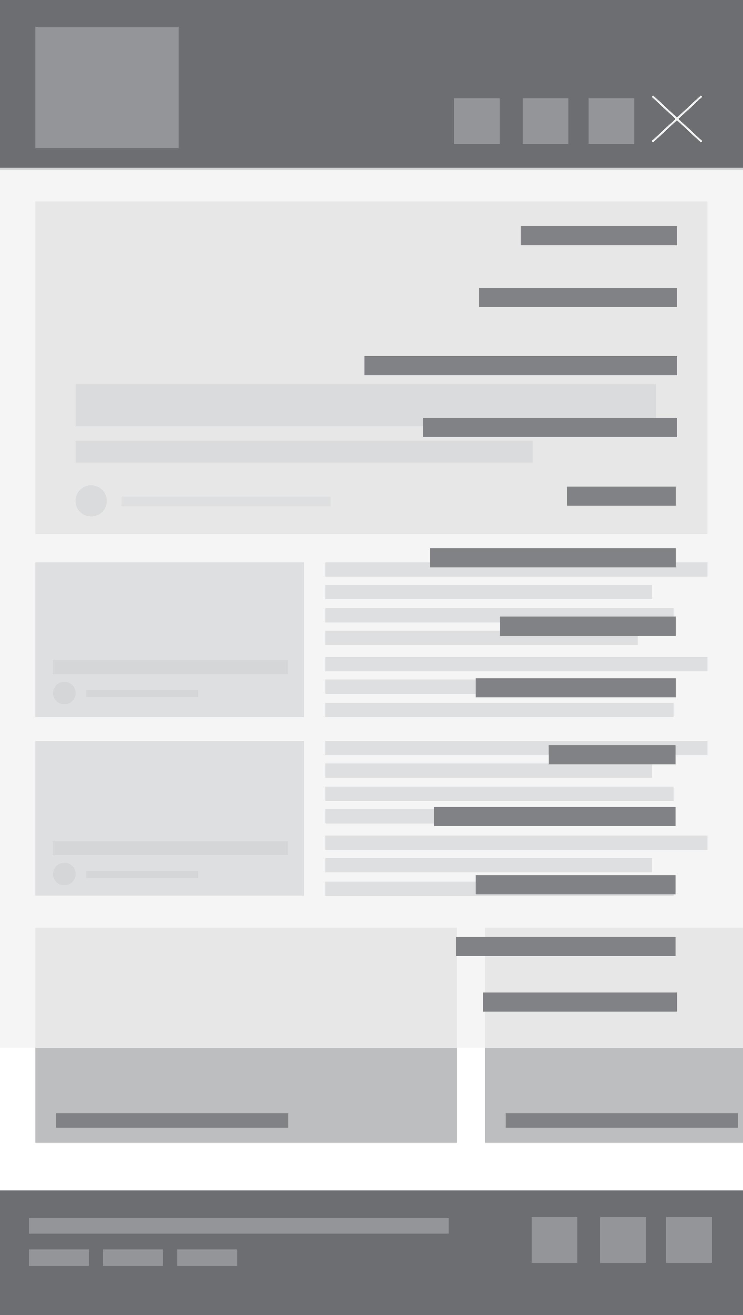 Mobile home page side nav