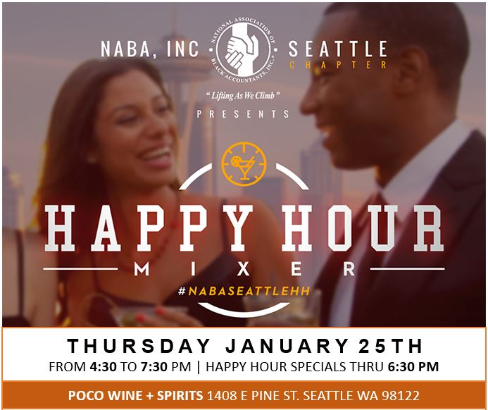 Join us to kickoff monthly happy hour mixers on last Thursdays! The kickoff location, POCO Wine + Spirits, is Black owned.