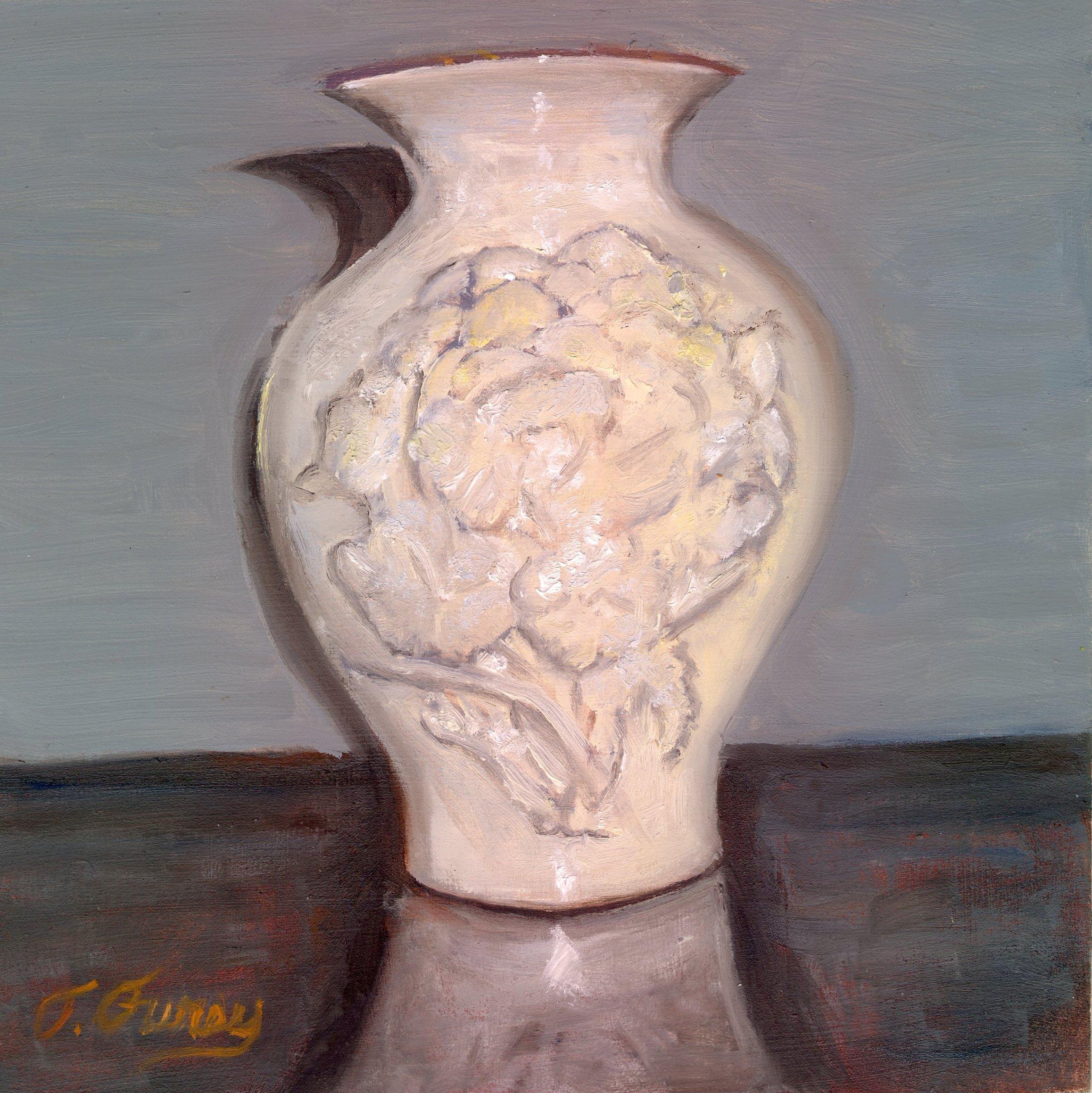 "Lenox Vase ,Alla Prima Oil Painting on Board, 8"" x 8"","