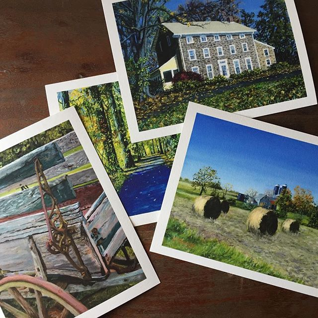 5.5 by 7 inch #gicleeprints available. Email me at tom@tomfurey.com. #tomfurey #tomfureyartist #fineart #reproductions #museumquality #archivalpaper #heynoclouds #parkwalk #farmhouse #woodwagon #buckscounty #buckscountyartist #buckscountyart #artistsoninstagram