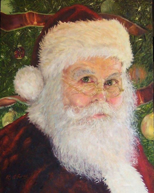 Ho Ho Hope everyone is getting into the holiday spirit. Here's my 2015 #Santa which is oil on an 18 X 24 inch canvas. I paint a #FatherChristmas #portrait every year. #fineart #oils #oilpainter #BucksCounty #buckscountyartist #tomfurey #tomfureyartist