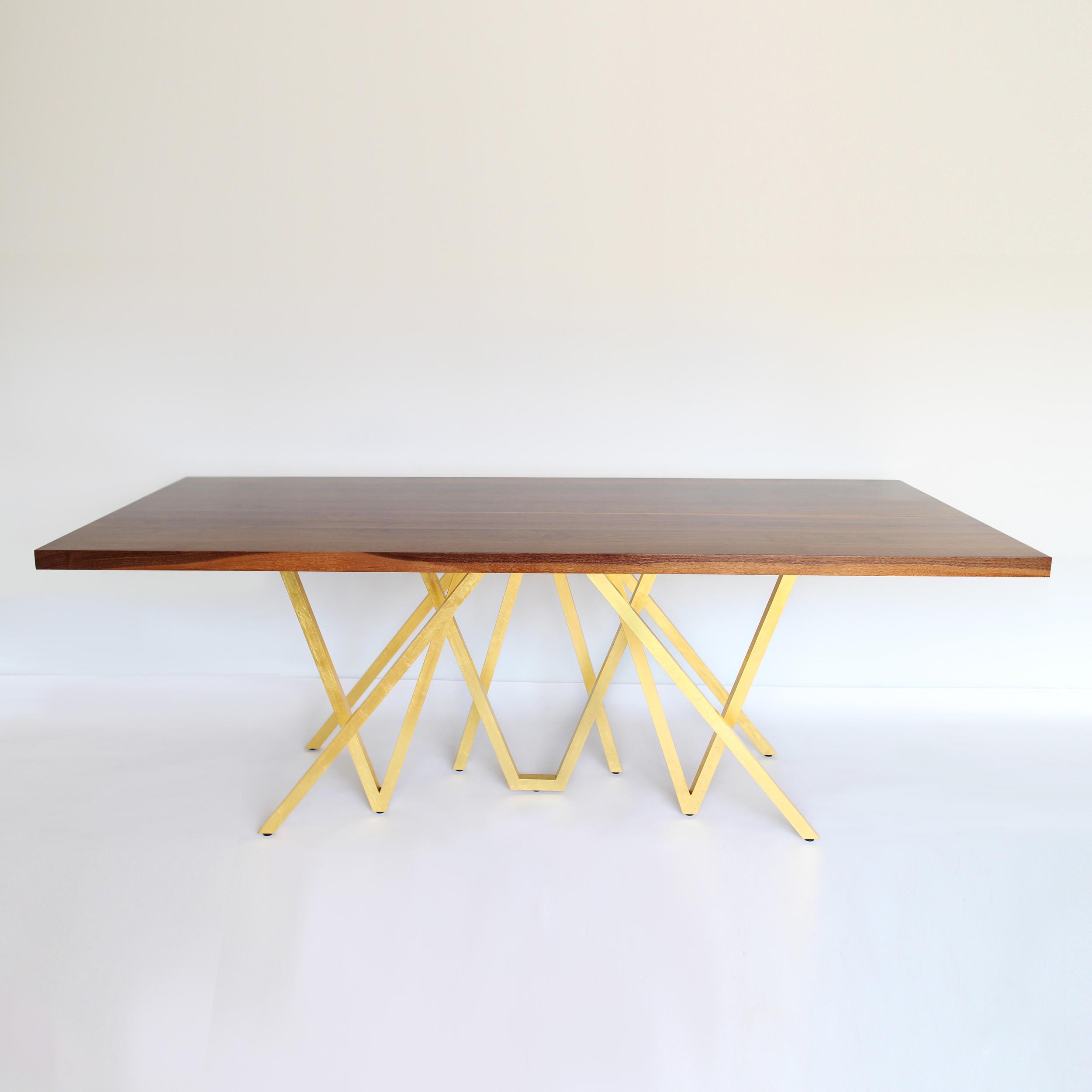 """GOLDEN BLAZE"" DINING TABLE"