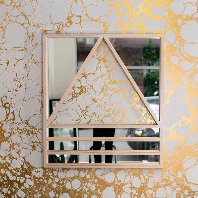 Loving this shot of our Reverse Simplex mirror with the ultimate surrounding by @calicowallpaper! 📸: @zacharygray