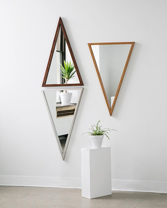 Check out the beautiful arrangement of our Isosceles Mirrors @nextspacedetroit! 📷:@hsaundersphoto