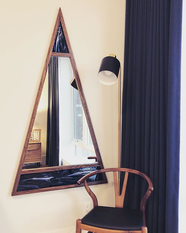 So excited for this custom length version of our Scale Mirror to live in it's new Brooklyn home. Thanks to our dear friend @friendofallglass for carrying our work in her beautiful Greenpoint shop!